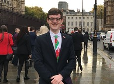 Wil Rees represents Ceredigion in UK Youth Parliament takeover 2017