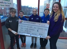 Funds raised by Aberystwyth Community Ambassadors for Ysbyty Bronglais