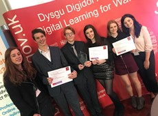 Snapchat safety film launched by Ceredigion pupils wins prize in Cardiff Bay