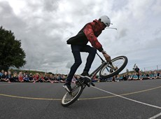 Ceredigion schools rewarded with performances from BMX artist