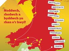 Running for the language in Aberystwyth!