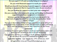 Young People's given opportunity to apply for £600 bursary!