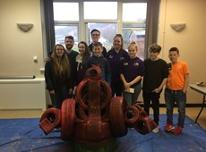 Young People create 'Welsh Dragon' chair for community park