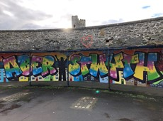 Young People create eye-catching mural for Aberystwyth Promenade!