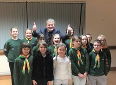 Cered organises a fun evening for Llandysul Cubs with 'Britain's got Talent' star