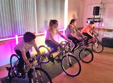 Pedal power session with Ynni Da organised by Cered