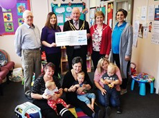 Chairman's contribution to local charity