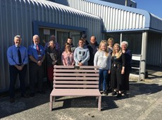 Young People get inspired and donate bench to local community