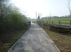 New cycle and walking path completed between Bow Street and IBERS