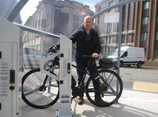 New E-bike charging stations and cycle shelters installed in Aberystwyth