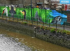 Acknowledgement for creativity of River Teifi mural