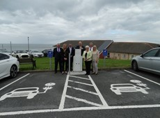 Electric vehicle charging points installed in Aberystwyth and Aberaeron