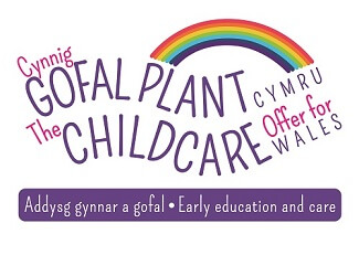 The childcare offer for wales logo