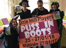 'Puss in Boots' gan Y Little Mill Players