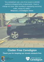 Clutter free ceredigion rhiannon poster