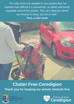 Clutter free ceredigion tara poster