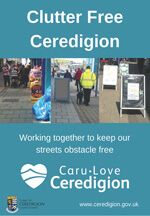 Clutter free ceredigion poster